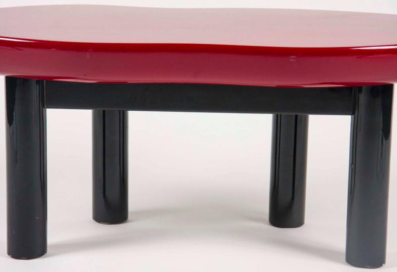"""Joan Crawfords Lips"" as coffee table designed by Jay Spectre"