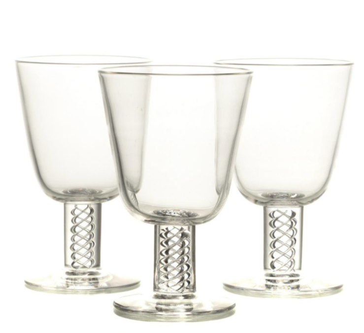 Steuben Air Twist Water Goblets, Sold Individually