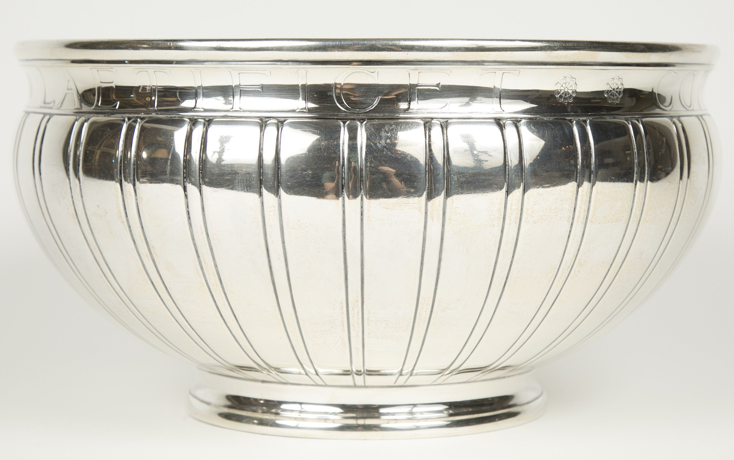A Tiffany & Co Sterling Silver Punch Bowl