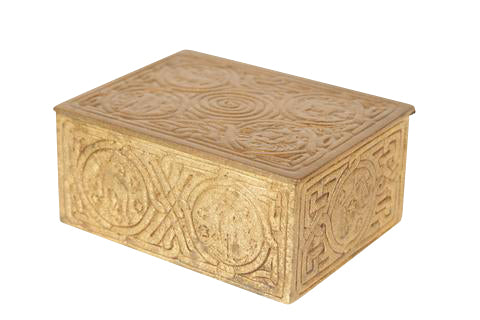 Tiffany Gold Washed Bronze Zodiac Box