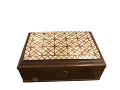 Anglo Indian Brass Box with Bone Inlay