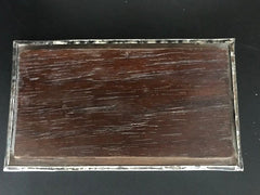 Sterling Silver and Rosewood Box with Ancient Chancay Bird Textile Lid