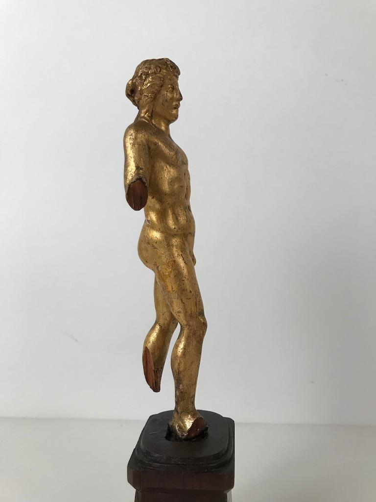 18th Century Italian Giltwood Carving of Apollo