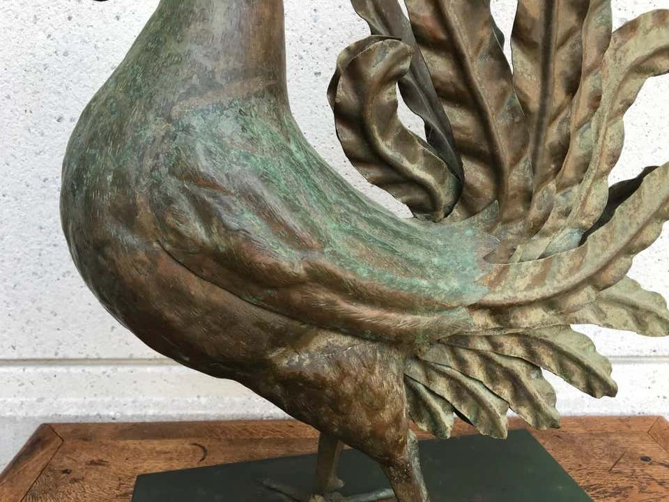 Italian Patinated Wrought Iron Rooster