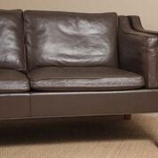 Leather Sofa by Borge Mogensen