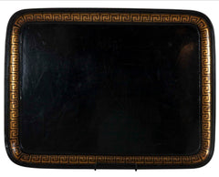 English Papier Mache Tray with Greek Key Border