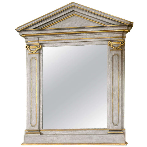 Large French Painted and Gilt Mirror