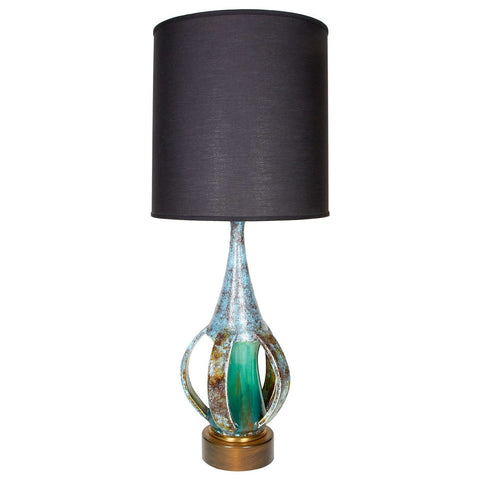 Danish Mid-Century Modern Pottery Lamp with Sculptural Form
