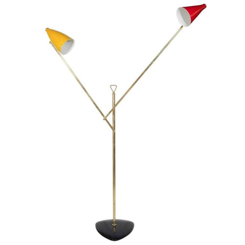 Italian Modern Architectural Floor Lamp by Franco Buzzi for O-Luce