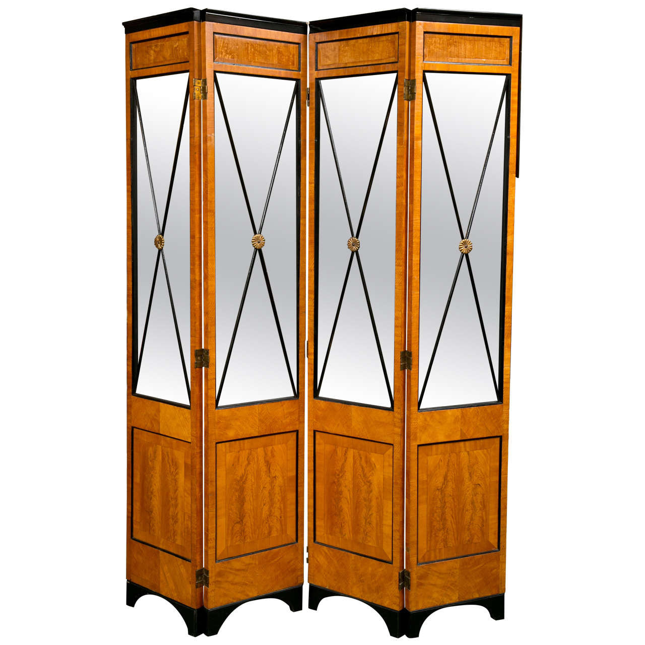 Satinwood Biedermeier Style Screen