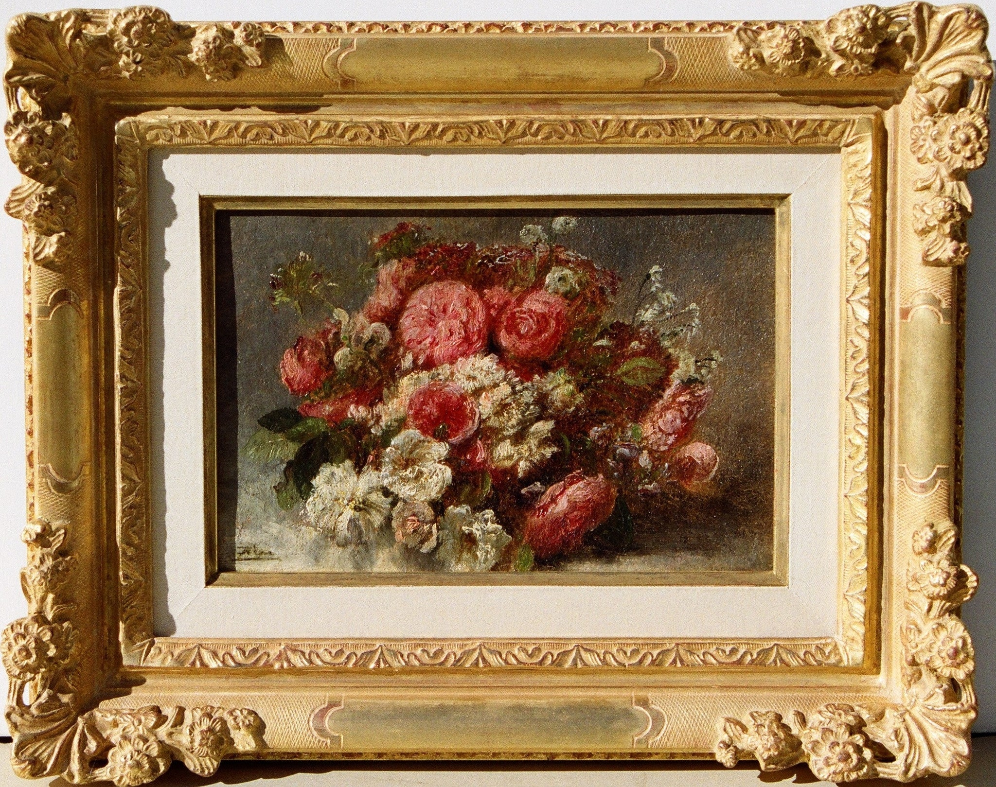 "Felix-Fran̤ois-Georges-Philibert ZIEM (French, 1821-1911) ""Bouquet of Roses""Circa 1850"