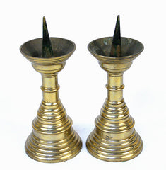 Brass Pricket Candlesticks