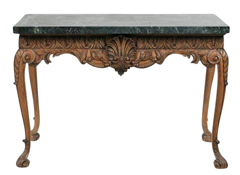 Lime Wood Console With Marble Top
