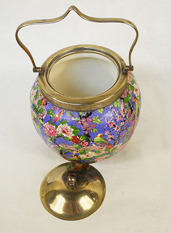 Chintz Patterned Biscuit Barrel