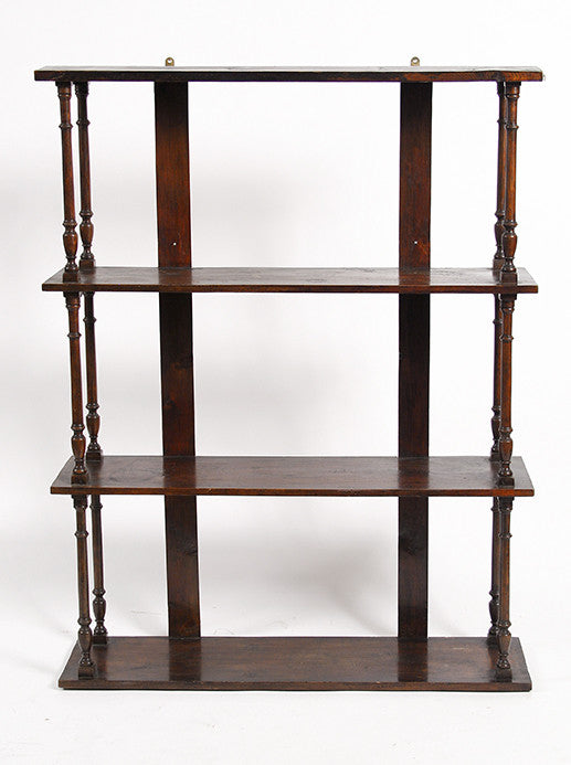 Large Four-Tiered Wall Shelf