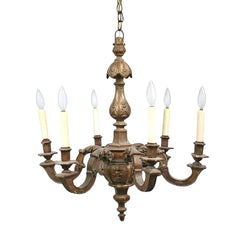 Carved Gilt Wood Chandelier