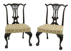 Chippendale Style Chairs - Set of Six