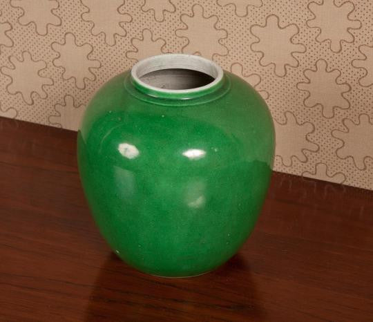 Apple Green Chinese Jar