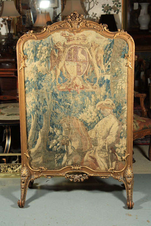 French Rococo Style Fire Screen