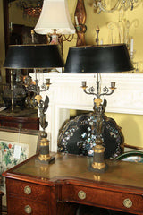 French Empire Style Candelabra Mounted as Lamps