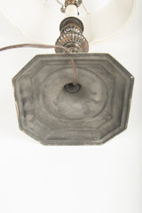 Bronze Octagonal Candlestick now Mounted as Lamp