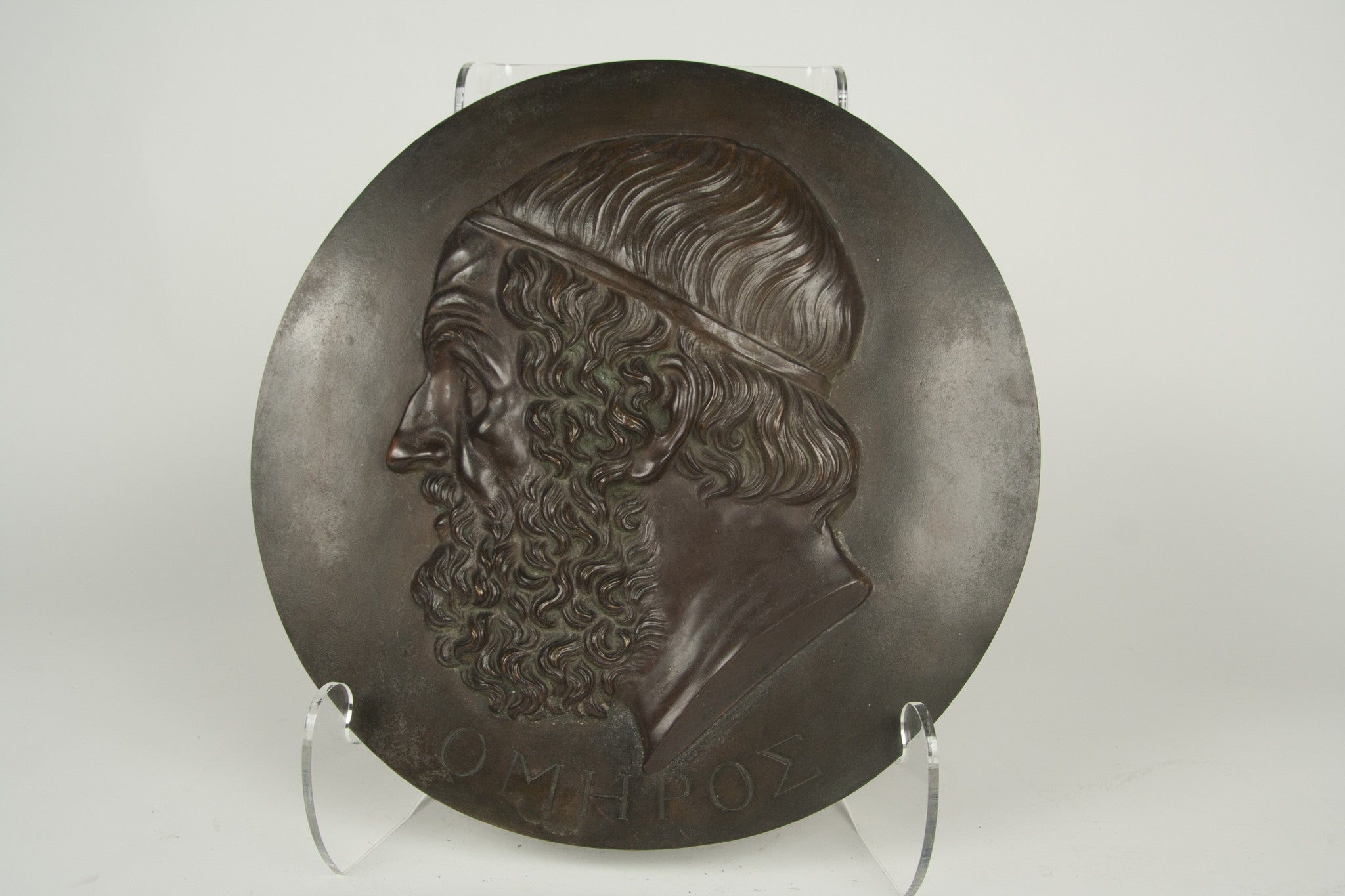 A Bronze Plaque of Homer