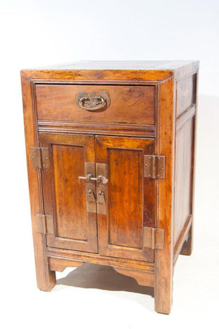 Chinese Elmwood Bedside Commode
