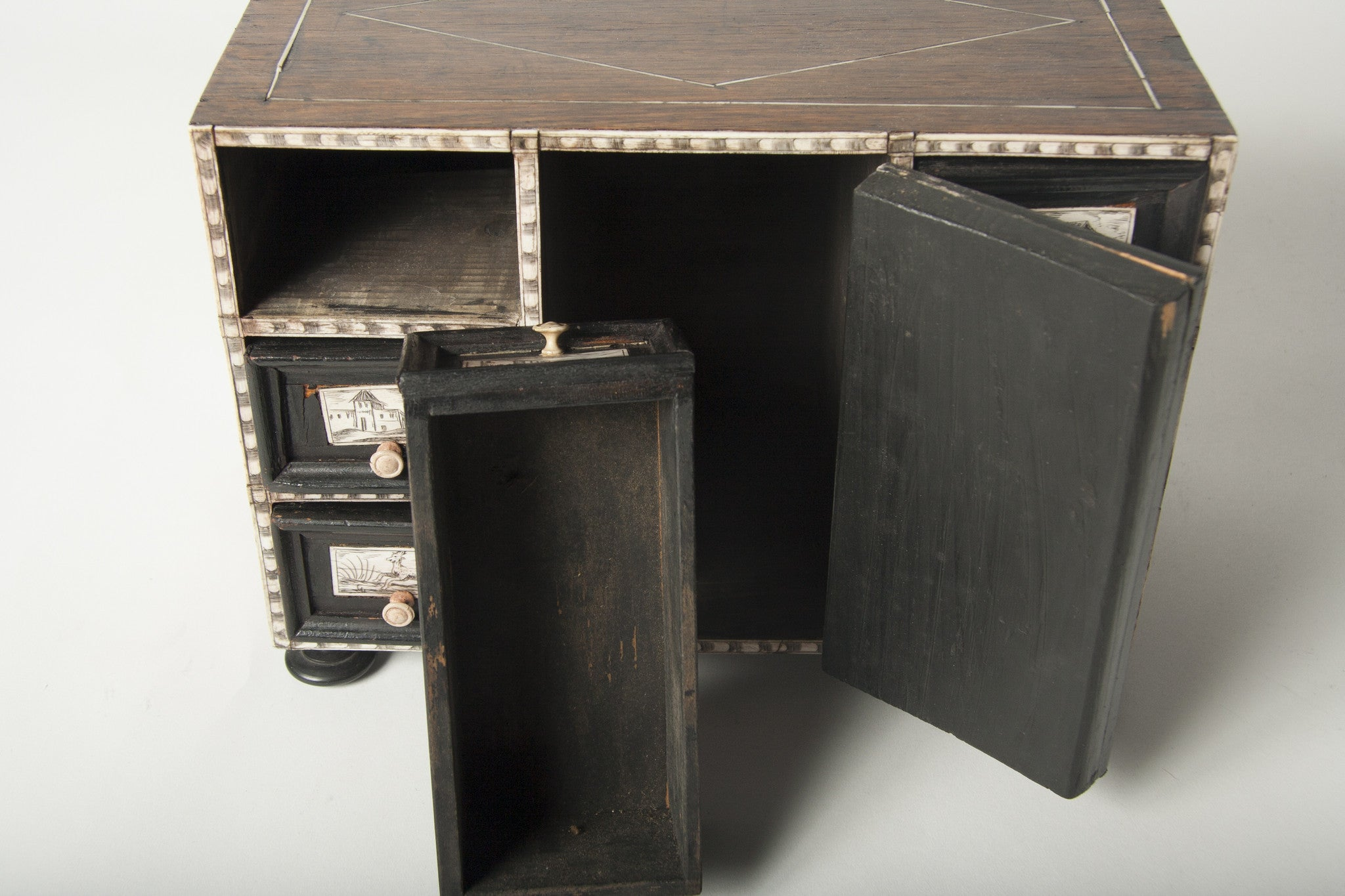 A Continental Penwork Desk Box