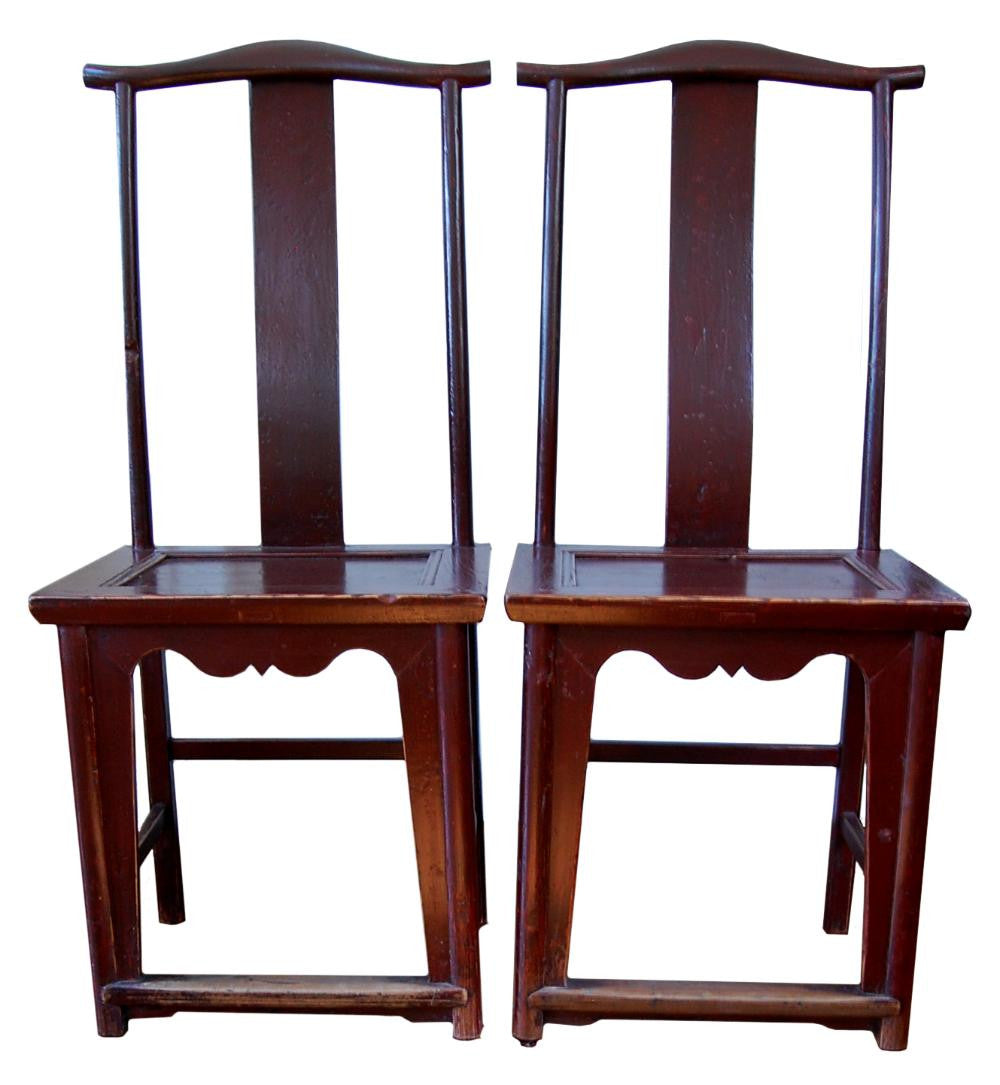 Chinese Yoke back chairs