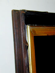 Rustic Carved and Gilt Wood Mirror Frame