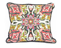 English Needlepoint & Beadwork Cushion