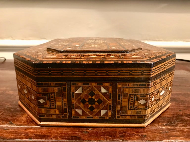 Anglo Indian Rosewood and Mother of Pearl Inlaid Box