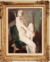 Jacques Ferdinand GONIN (French, Born in 1883) Seated Nude