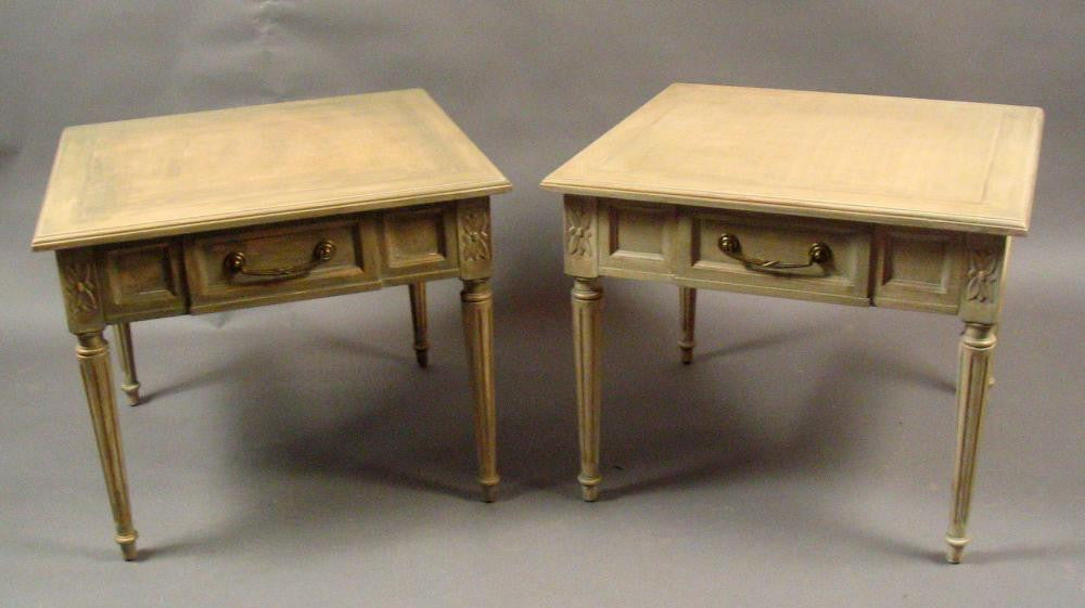 French Neoclassical Style Side Tables