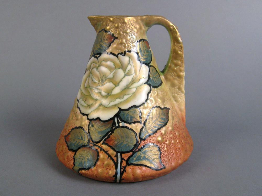 Turn Teplitz Enamel Pitcher