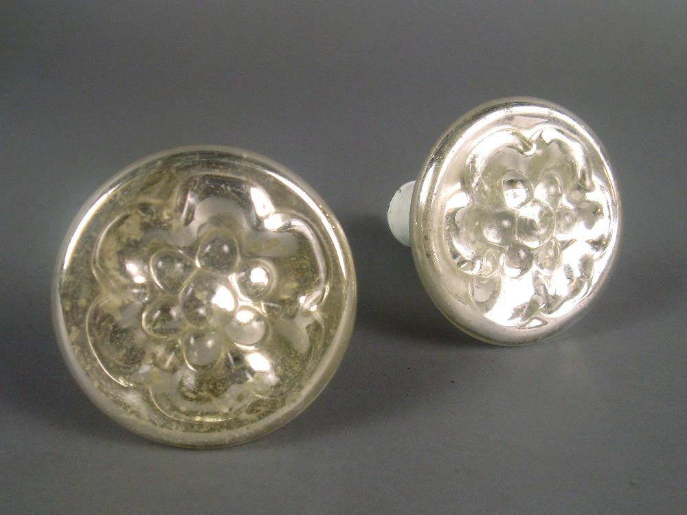 Pair of Mercury Glass Tiebacks