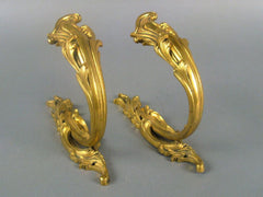 Pair of Bronze Dore Curtain Tiebacks