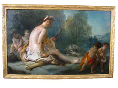 """Allegory of America"" Oil Attributed to Auger Lucas"