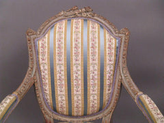 French Painted Fauteuil