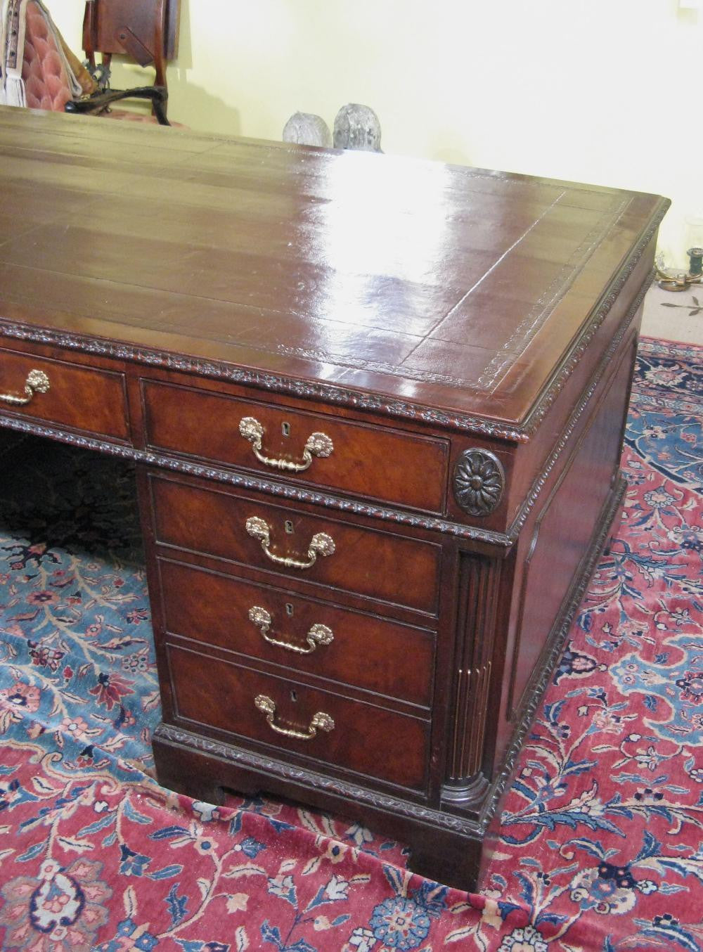 English Partner's Pedestal Desk