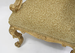 Carved Giltwood Armchair