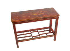 Chinese Red Console Table