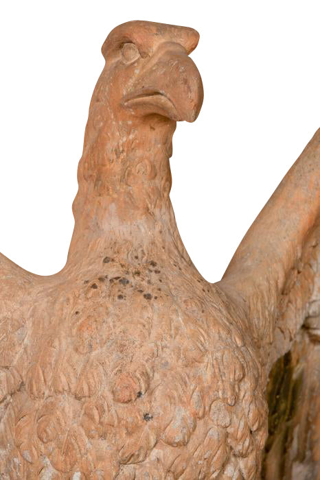 Monumental Terracotta Eagle Attributed to Doulton Lambeth