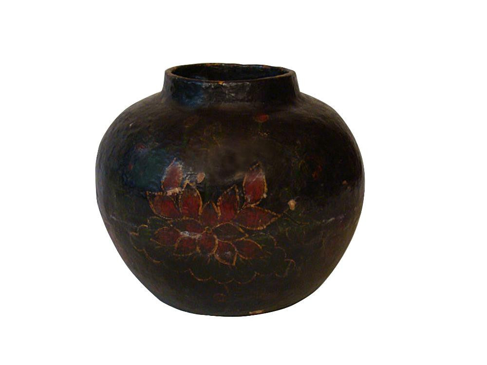 Antique Chinese Papier Mache Vase Avery Dash Collections