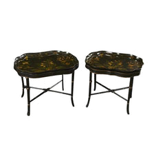 Pair of Regency Papier Mache Tray Top Tables