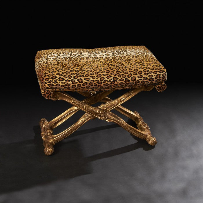 Louis XV Style Carved Gilt Wood Stool