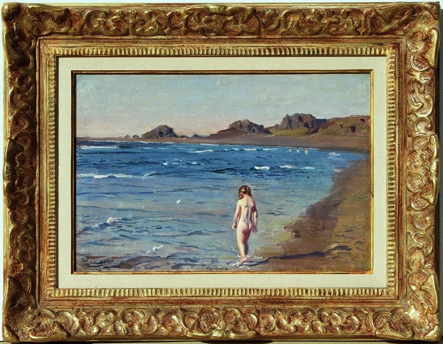 "Benito REBOLLEDO CORREA (Chilean, 1881-1964) ""The Young Bather"""