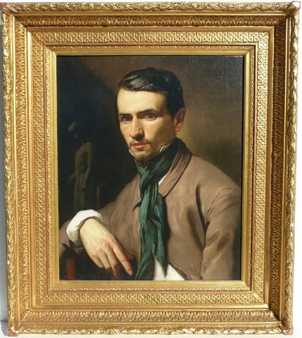 "French School late 19th century ""Portrait of a Sculptor"""