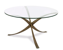 A Bronze Center Table Designed By Michel Mangematin