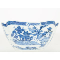 A Chinese Export Blue and White Nanking Porcelain Square Bowl